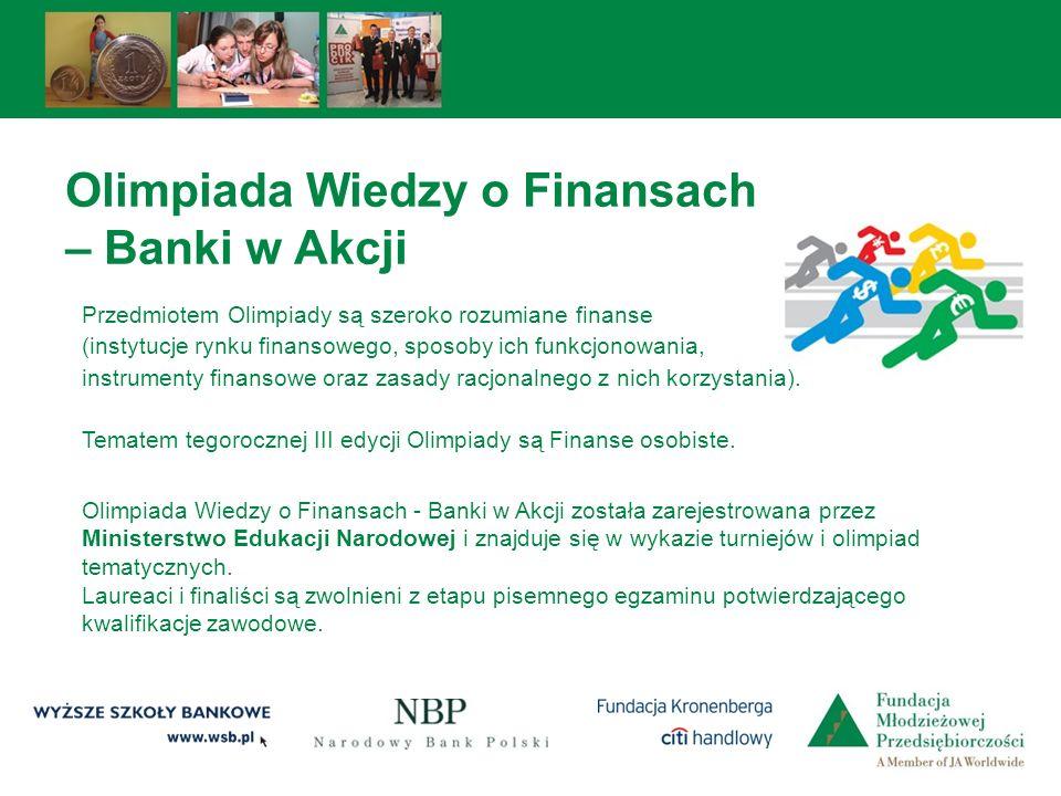 Olimpiada Wiedzy o Finansach – Banki w Akcji