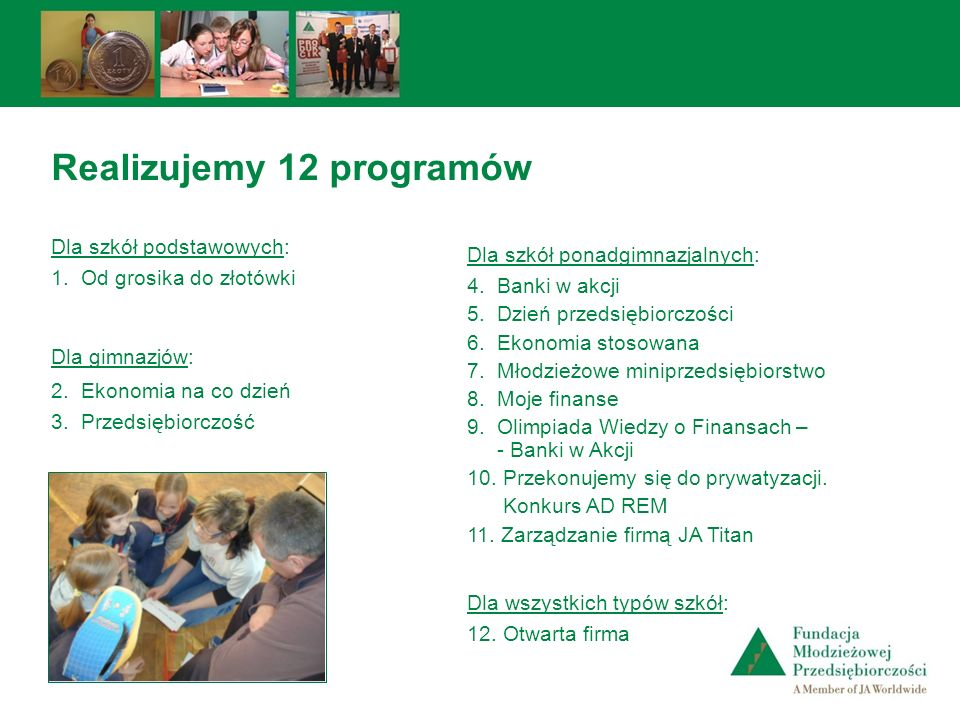 Realizujemy 12 programów