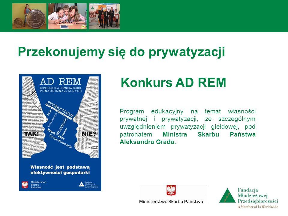 Przekonujemy się do prywatyzacji Konkurs AD REM