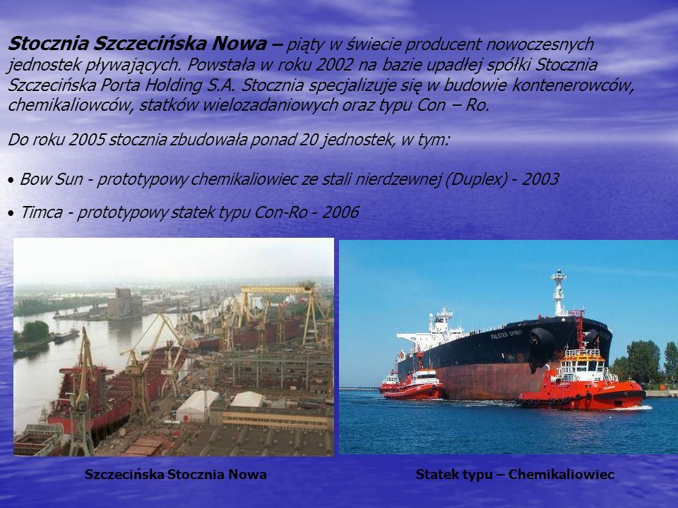 Szczecińska Stocznia Nowa Statek typu – Chemikaliowiec