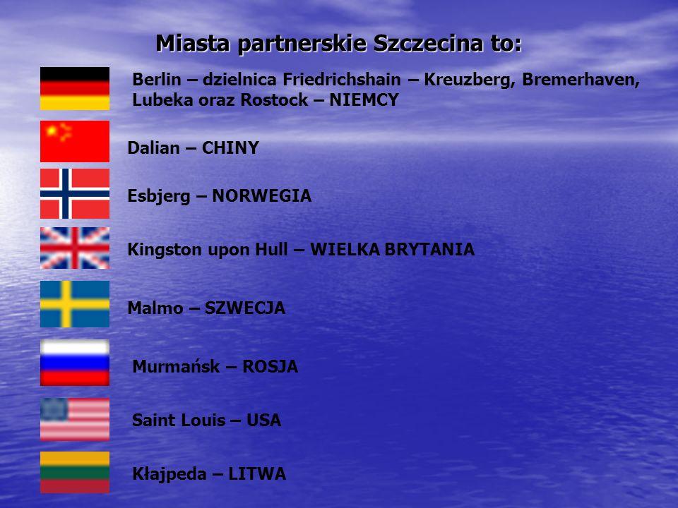 Miasta partnerskie Szczecina to: