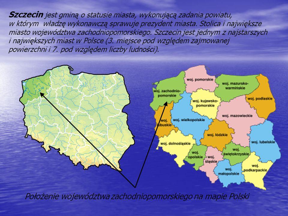 Położenie województwa zachodniopomorskiego na mapie Polski