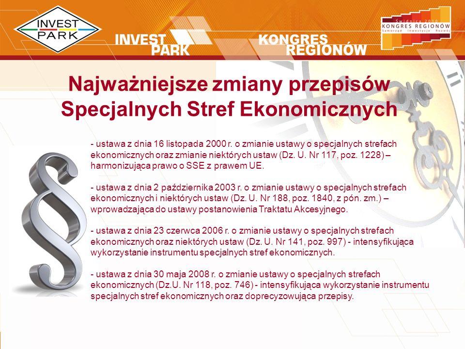 Najważniejsze zmiany przepisów Specjalnych Stref Ekonomicznych