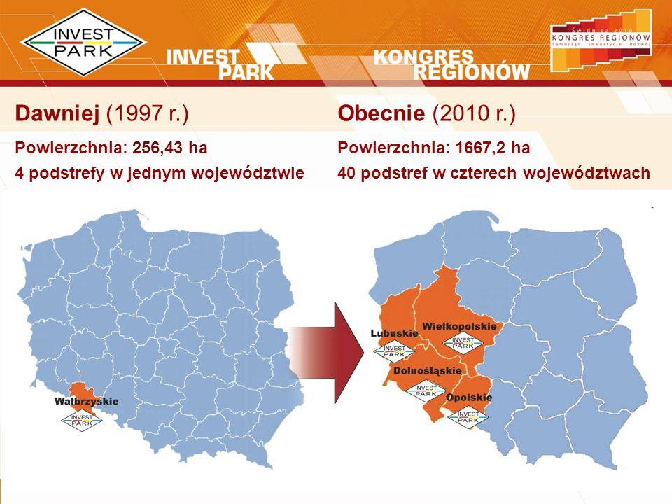 Dawniej (1997 r.) Obecnie (2010 r.) Powierzchnia: 256,43 ha