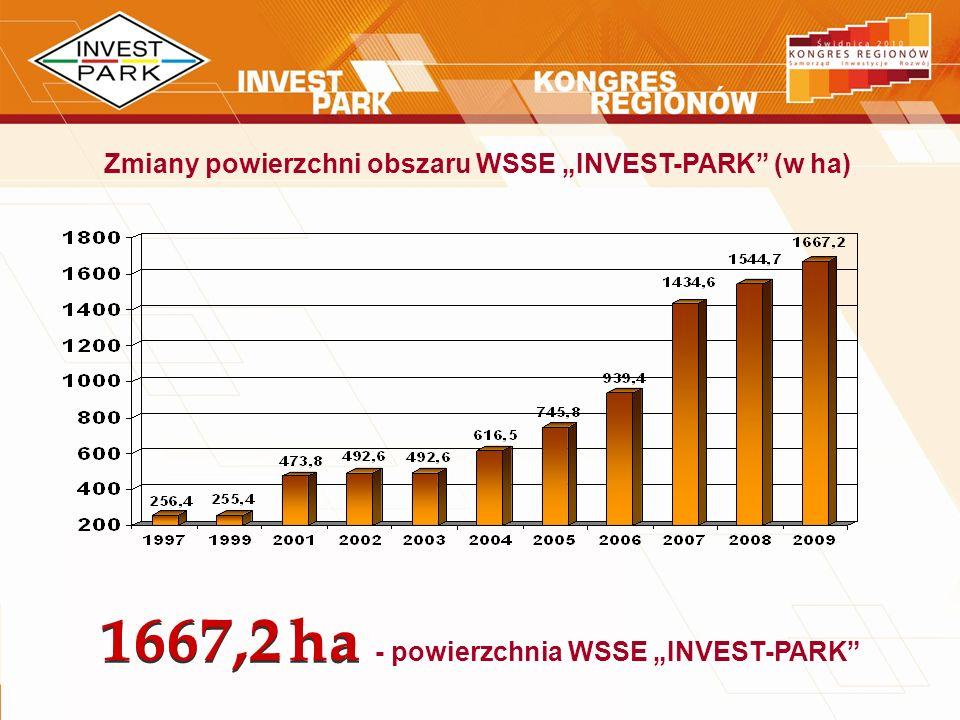"""- powierzchnia WSSE """"INVEST-PARK"""