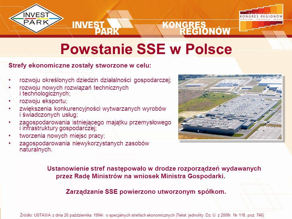 Zarządzanie SSE powierzono utworzonym spółkom.
