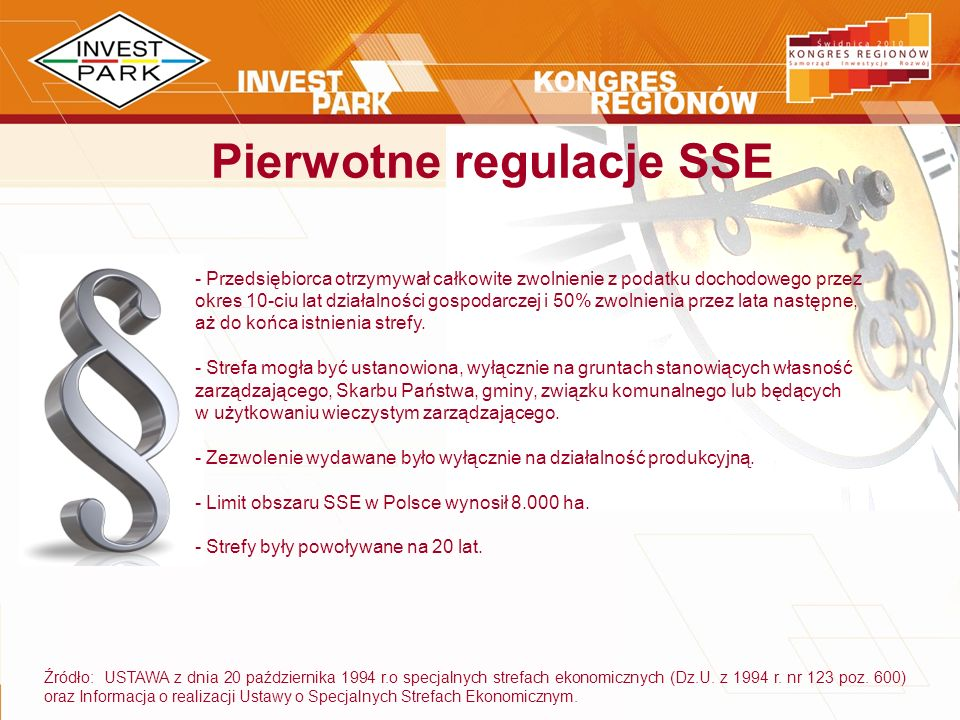 Pierwotne regulacje SSE