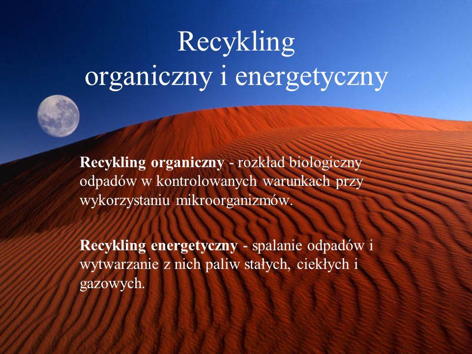 Recykling organiczny i energetyczny