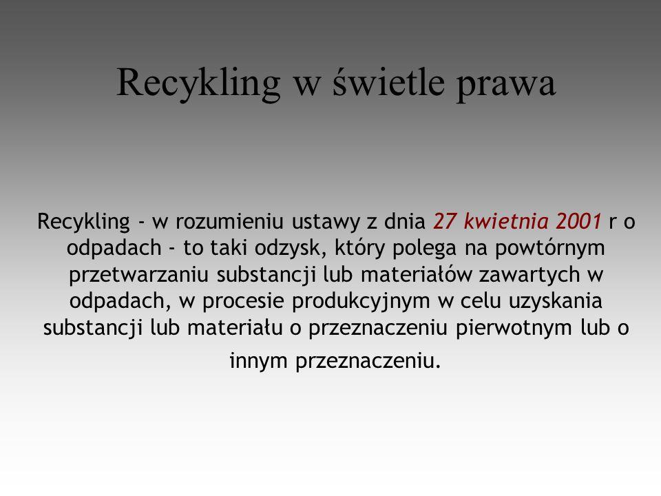 Recykling w świetle prawa