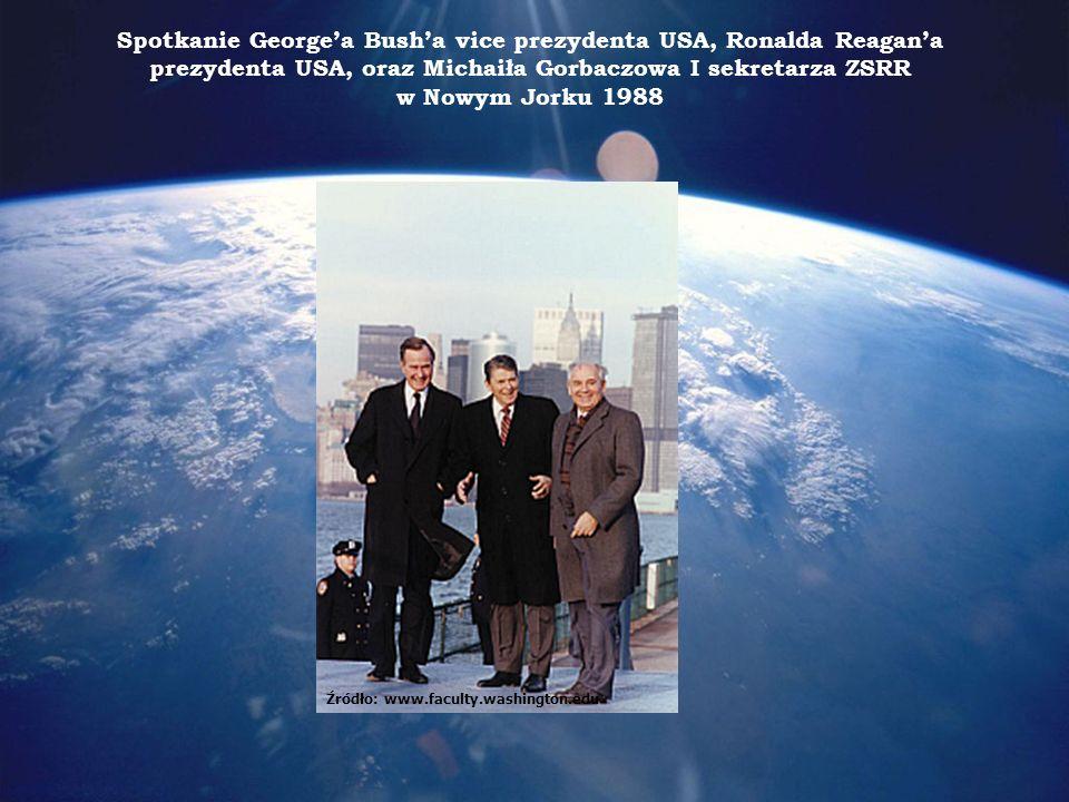 Spotkanie George'a Bush'a vice prezydenta USA, Ronalda Reagan'a prezydenta USA, oraz Michaiła Gorbaczowa I sekretarza ZSRR w Nowym Jorku 1988