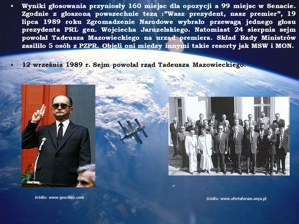 12 września 1989 r. Sejm powołał rząd Tadeusza Mazowieckiego.