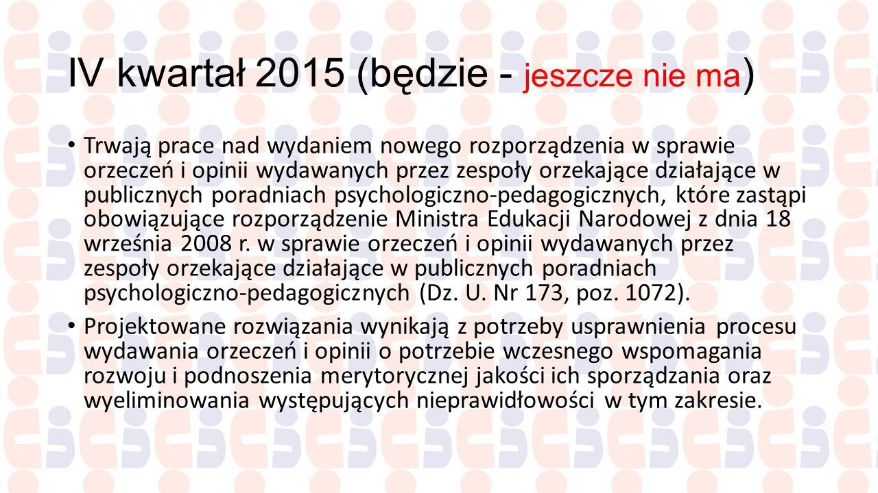 IV kwartał 2015 (będzie - jeszcze nie ma)