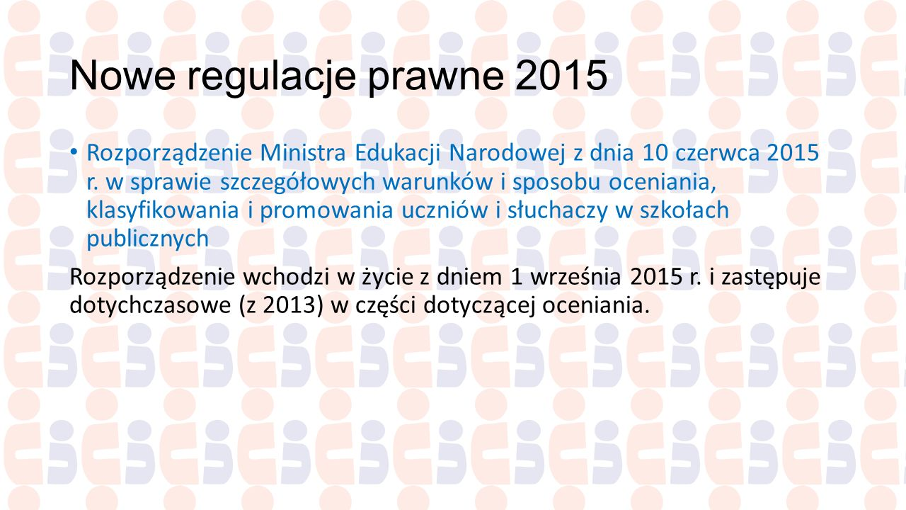 Nowe regulacje prawne 2015