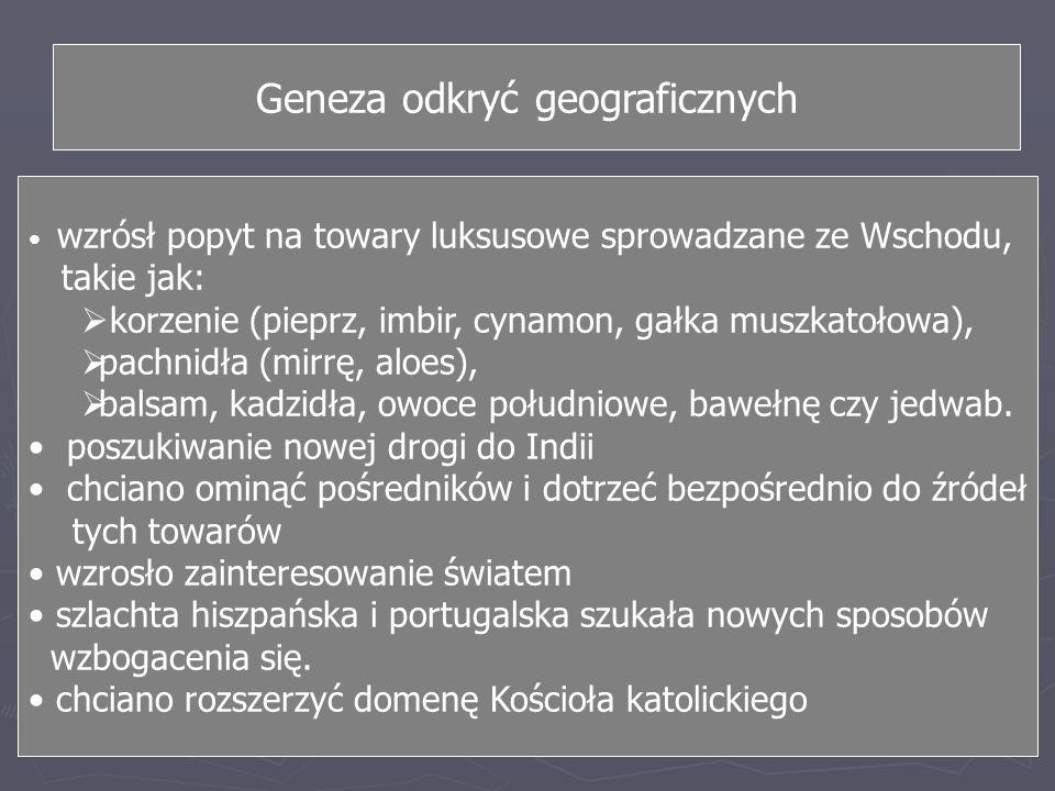 Geneza odkryć geograficznych