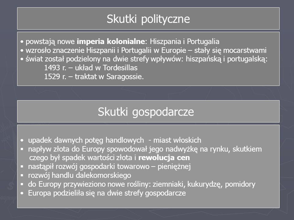 Skutki polityczne Skutki gospodarcze