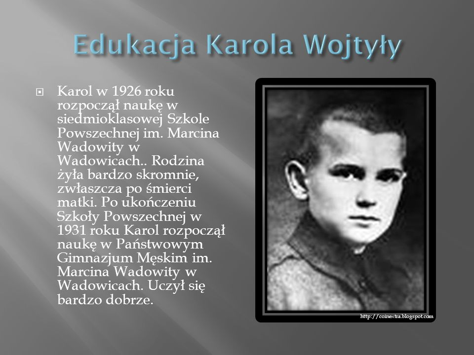 Edukacja Karola Wojtyły