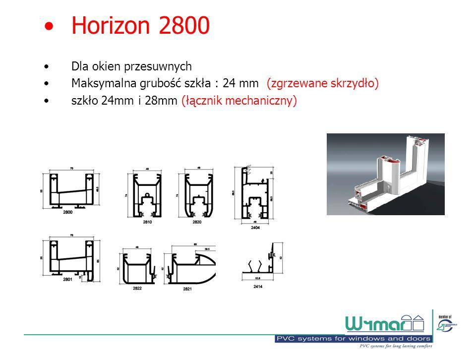 Horizon 2800 Dla okien przesuwnych