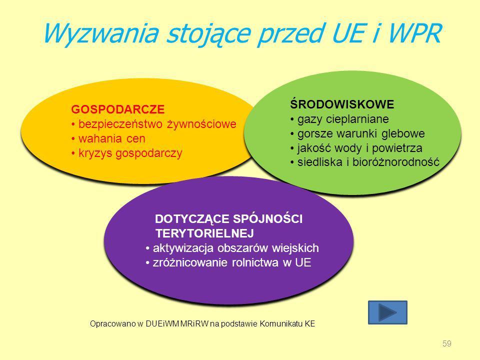 Wyzwania stojące przed UE i WPR