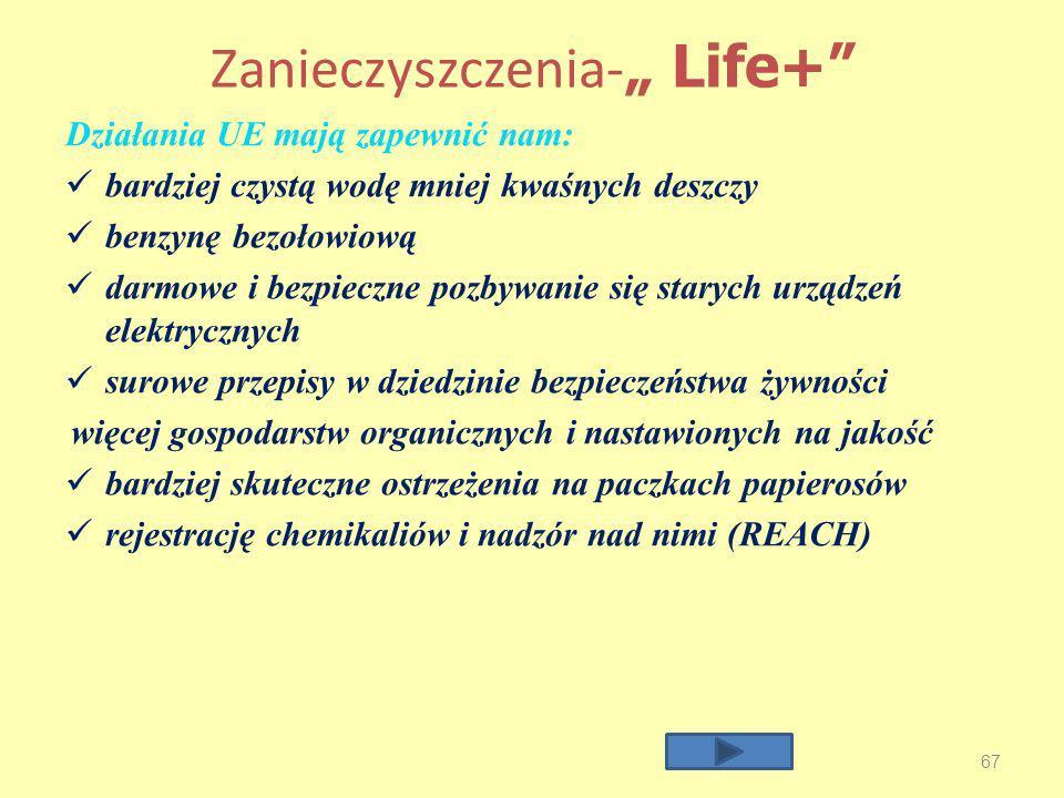 """Zanieczyszczenia-"""" Life+"""