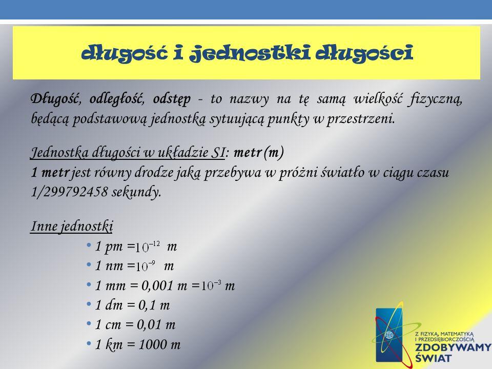 długość i jednostki długości
