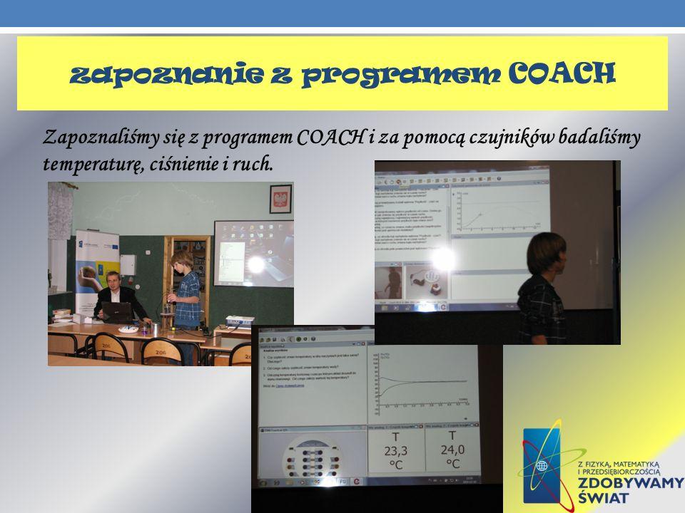 zapoznanie z programem COACH