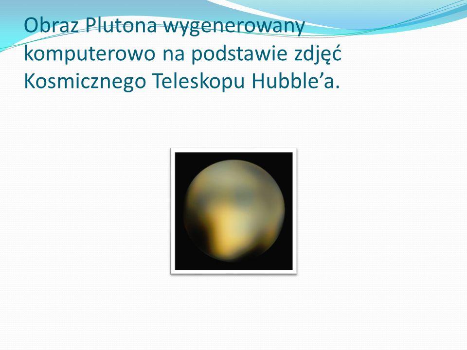 Obraz Plutona wygenerowany komputerowo na podstawie zdjęć Kosmicznego Teleskopu Hubble'a.
