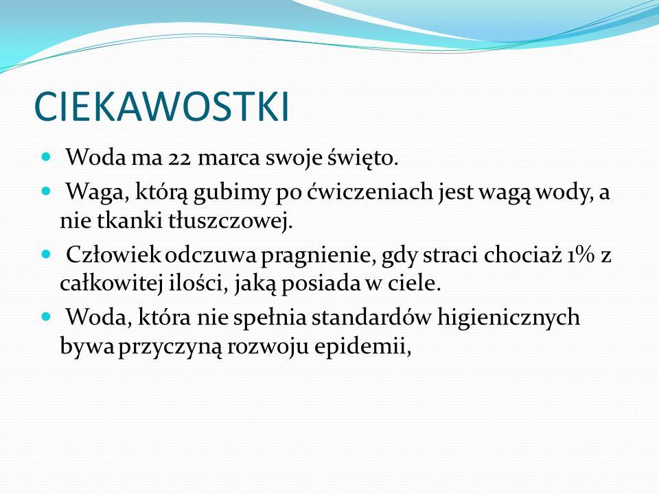 CIEKAWOSTKI Woda ma 22 marca swoje święto.