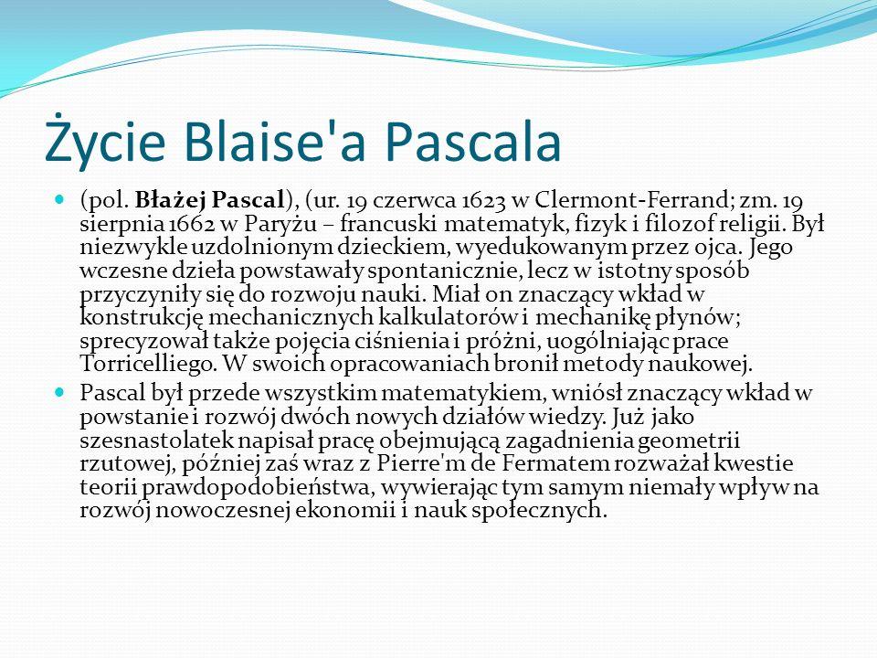 Życie Blaise a Pascala