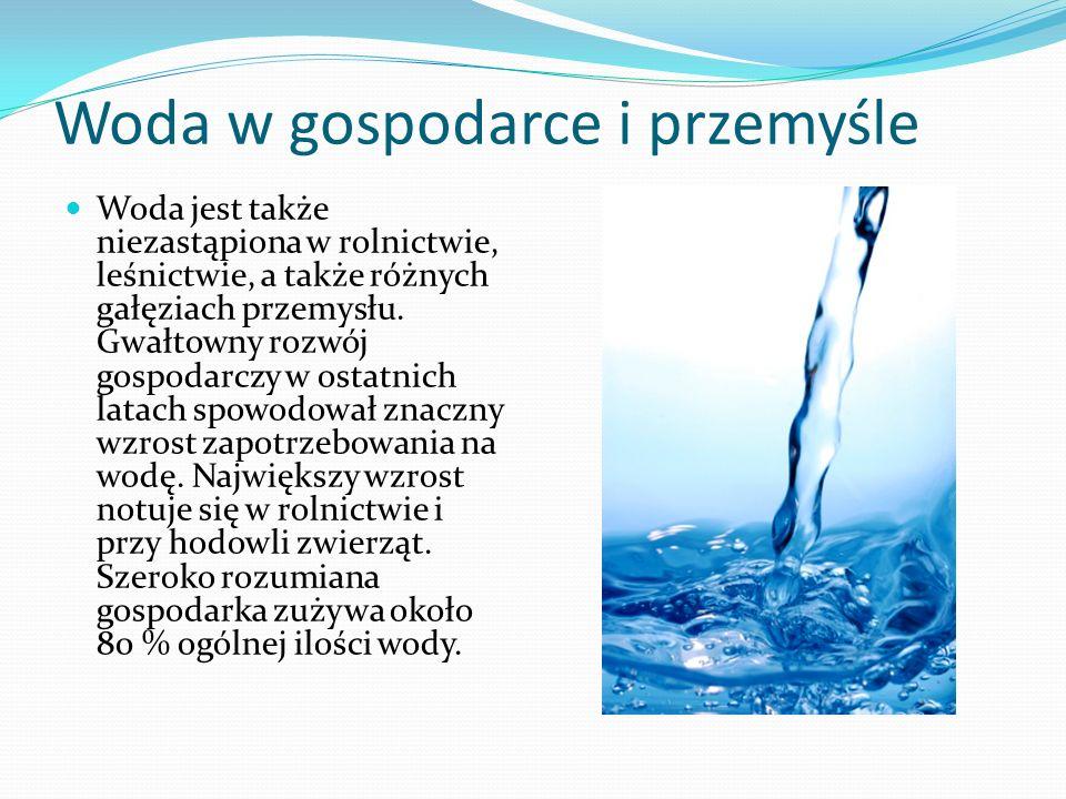 Woda w gospodarce i przemyśle