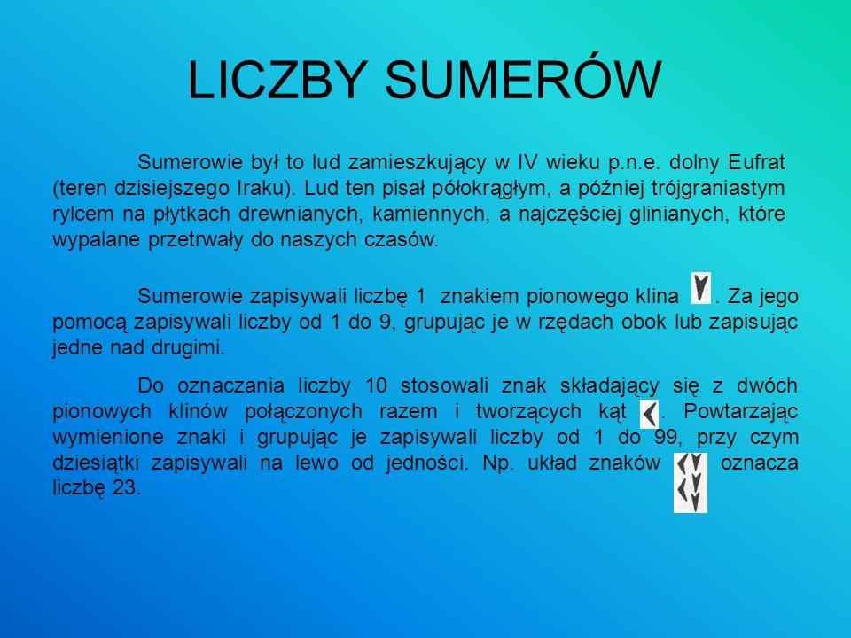 LICZBY SUMERÓW