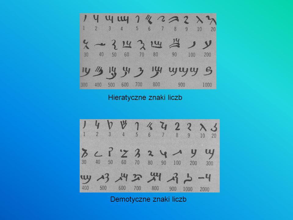Hieratyczne znaki liczb