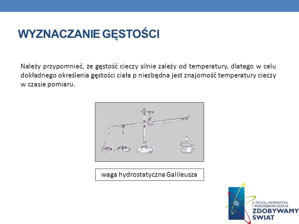 waga hydrostatyczna Galileusza