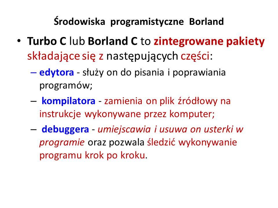 Środowiska programistyczne Borland