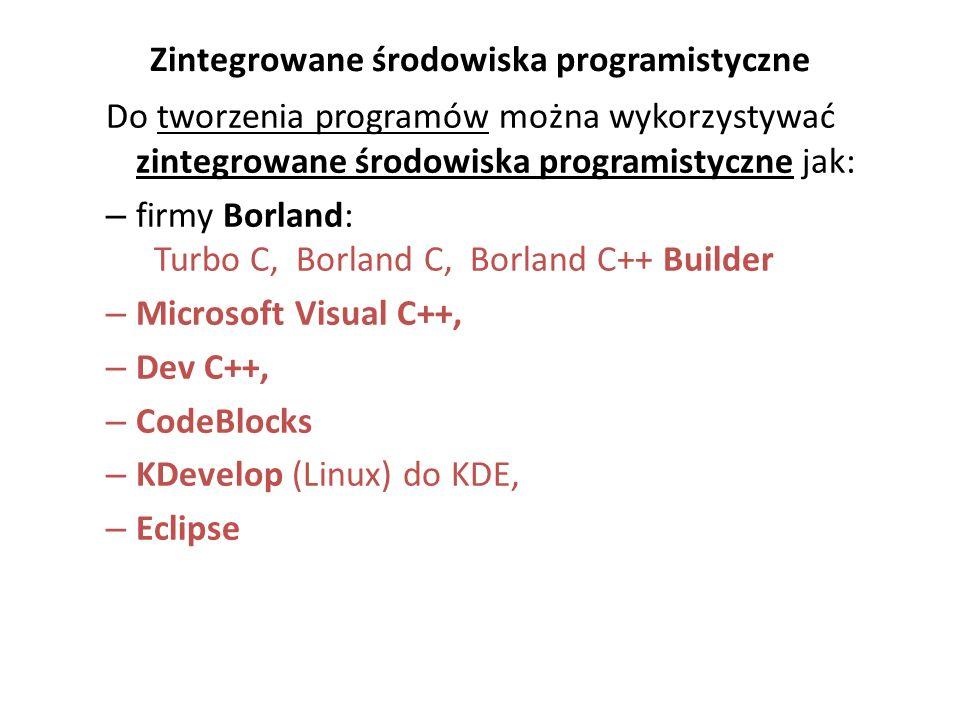 Zintegrowane środowiska programistyczne