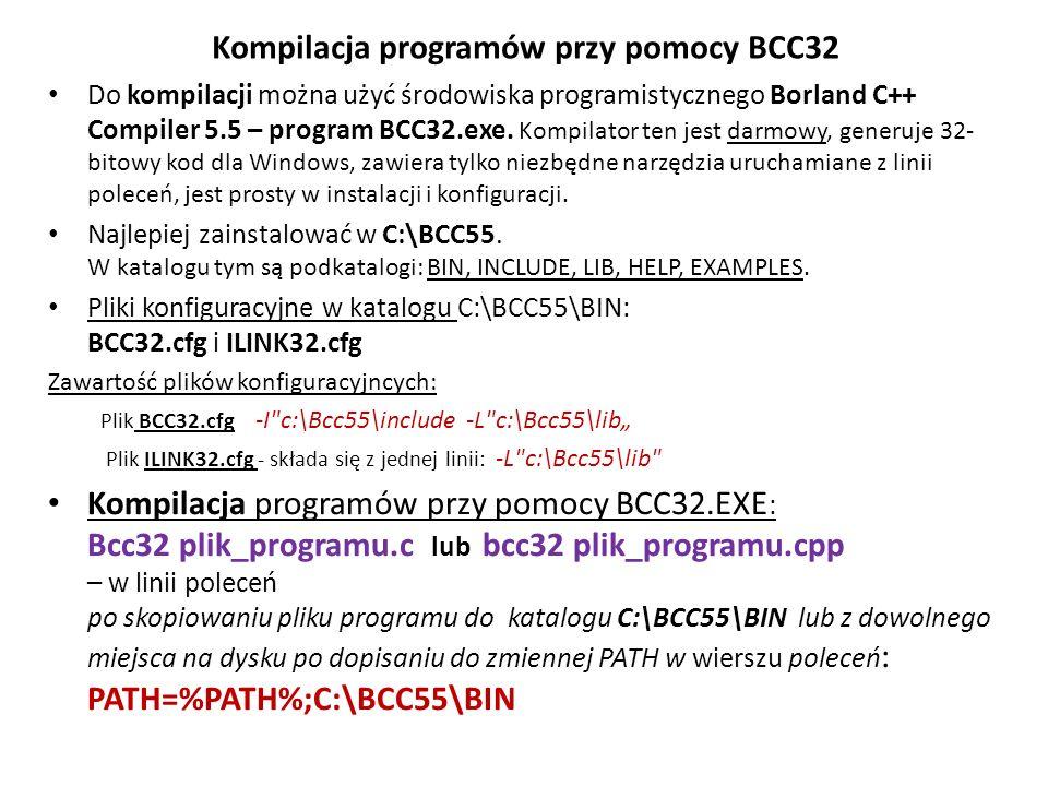 Kompilacja programów przy pomocy BCC32