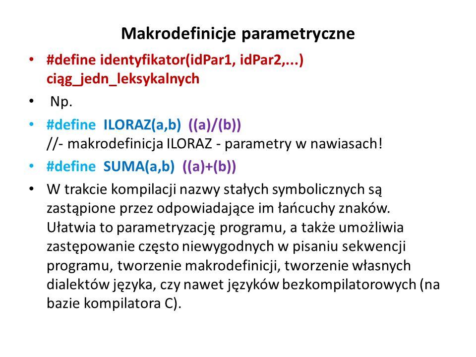 Makrodefinicje parametryczne