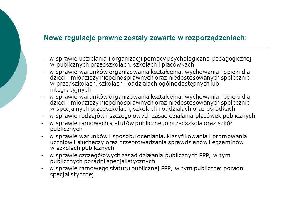 Nowe regulacje prawne zostały zawarte w rozporządzeniach: