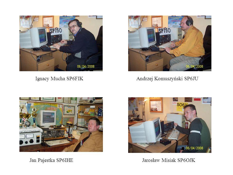 Ignacy Mucha SP6FIK Andrzej Komuszyński SP6JU Jan Pajestka SP6IHE Jarosław Misiak SP6OJK