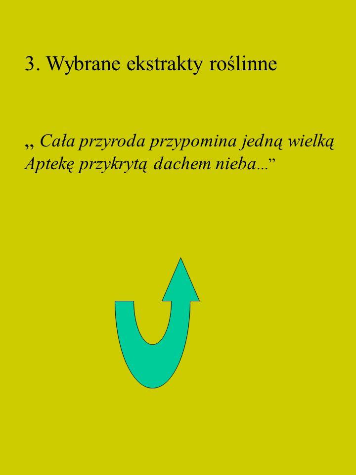 3. Wybrane ekstrakty roślinne