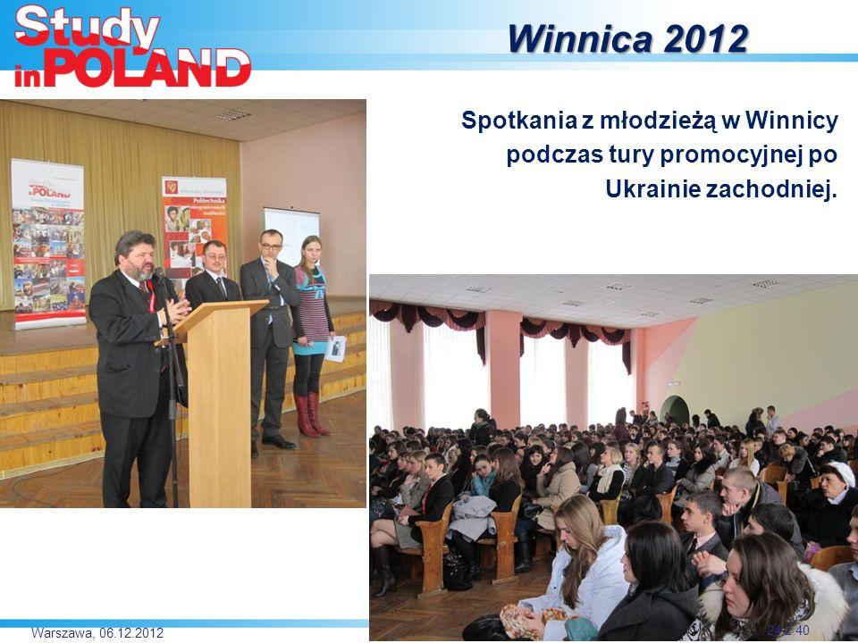 Winnica 2012 Spotkania z młodzieżą w Winnicy podczas tury promocyjnej po Ukrainie zachodniej.