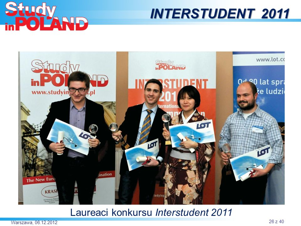 Laureaci konkursu Interstudent 2011