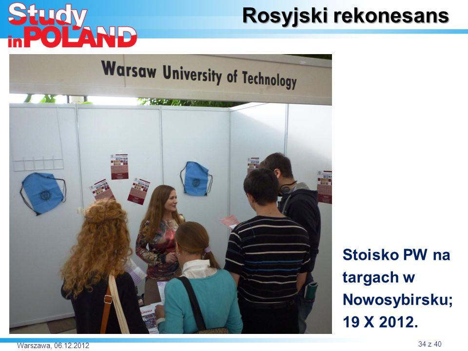 Rosyjski rekonesans Stoisko PW na targach w Nowosybirsku; 19 X 2012.
