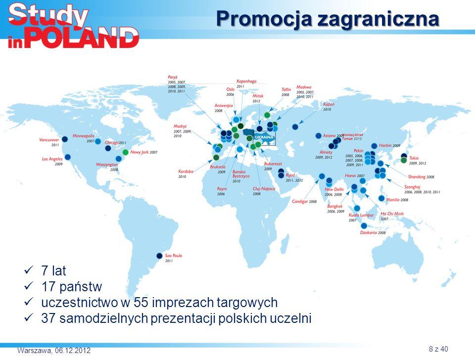 Promocja zagraniczna 7 lat 17 państw