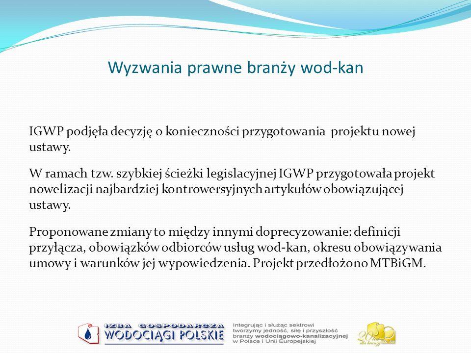 Wyzwania prawne branży wod-kan