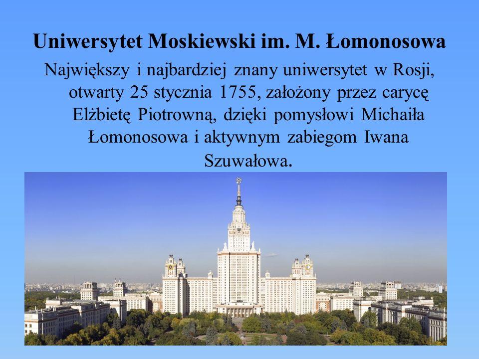 Uniwersytet Moskiewski im. M. Łomonosowa