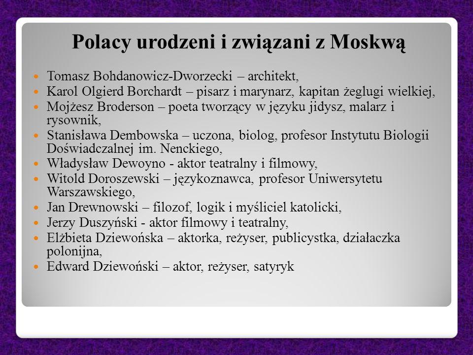 Polacy urodzeni i związani z Moskwą