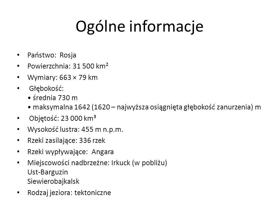 Ogólne informacje Państwo: Rosja Powierzchnia: 31 500 km²