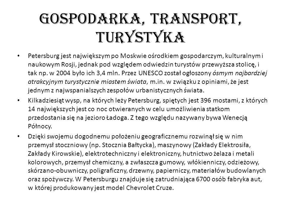 Gospodarka, transport, turystyka