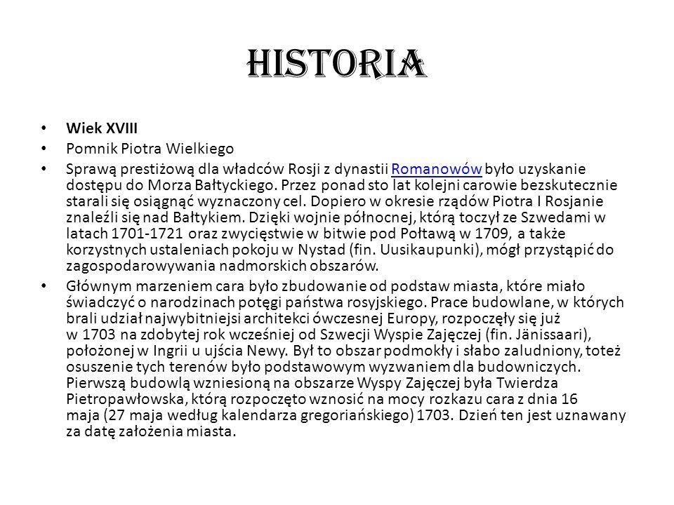 Historia Wiek XVIII Pomnik Piotra Wielkiego