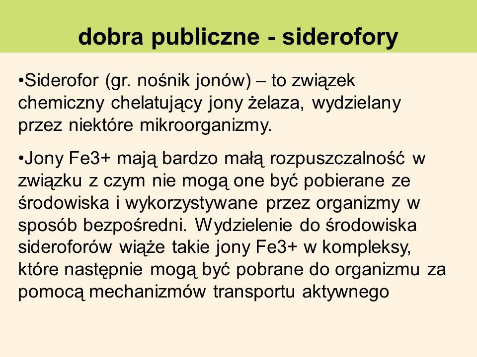 dobra publiczne - siderofory